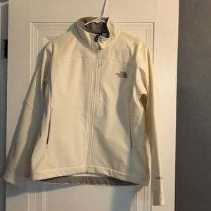 Winter white north face jacket